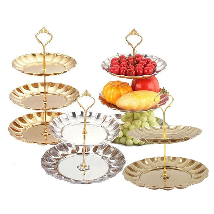 New Fruit Plates Stand Pastry Tray Candy Dishes Cake Desserts 2/3 Layer Stainless Steel Party Home Decoration #>=#>=#>=#>=#> Click on the pin to check out discount price, color, size, shipping, etc. Save and like it!