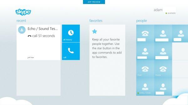 Skype For Windows 8 Is Way Ahead Of iPad Version Design-Wise - Cult of Mac