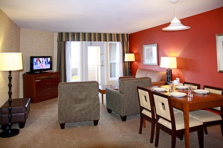 The living area of our wonderful one bedroom suite.