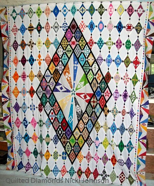 Quilted Diamonds ,completed by Nikki Johnson (Alabama) WOW Beautiful!!!