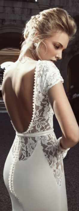 Espalda del vestido de novia / parte trasera del vestido de novia / boda. LO AMO!