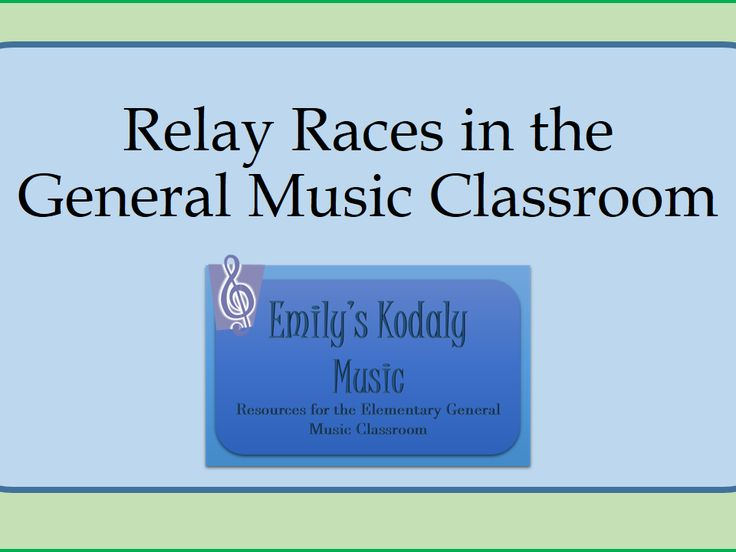 Ideas for Relay Races in the General Music Classroom- Get your kids up and moving to review concepts!