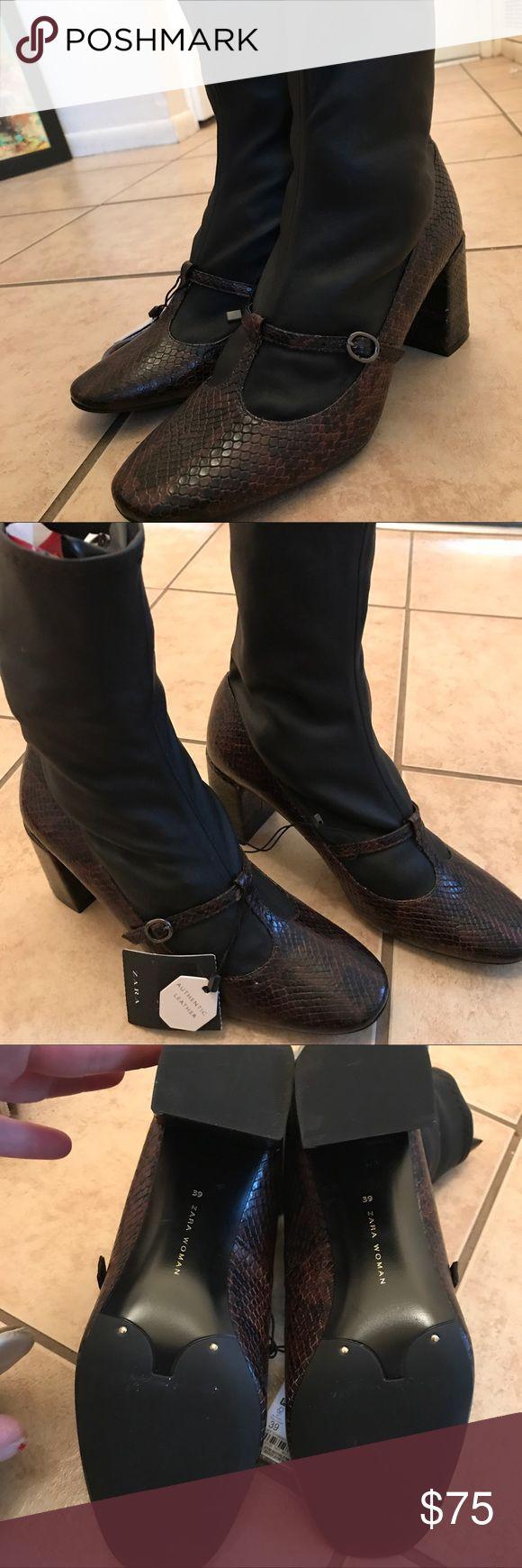 Zara Boots Authentic Leather SZ 8 NWT Zara Boots Authentic Leather SZ 8 NWT Zara Shoes Ankle Boots & Booties