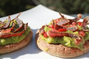 Blinis of Guacamole with Biltong