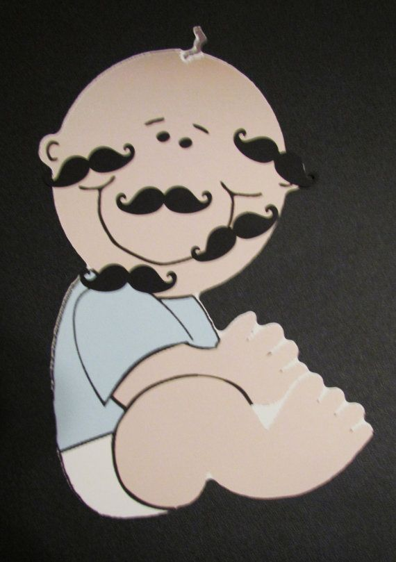 Pin the Mustache on  Little Man Baby Game by KhloesKustomKreation