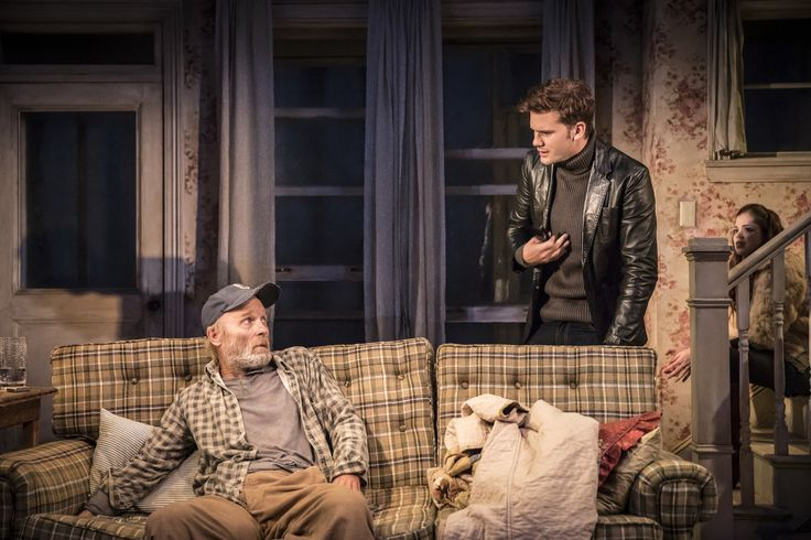 Ed Harris, Jeremy Irvine & Charlotte Hope in Buried Child, Trafalgar Studios, Photo Johan Persson https://www.fromtheboxoffice.com/3LM9-buried-child/