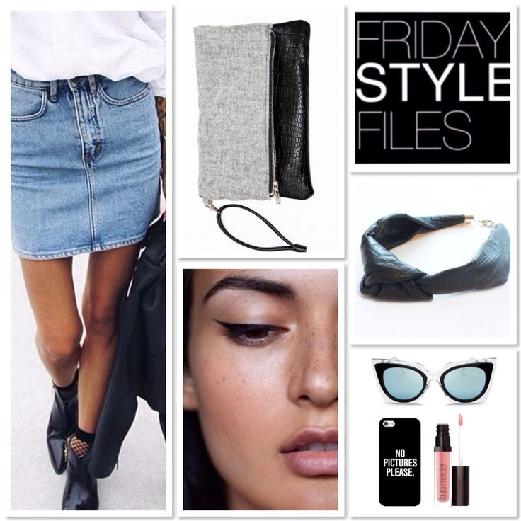Kate Moss style inspo // #fridaystylefiles #denim #leather #spring #streetstyle #lookbook #fashioninspo