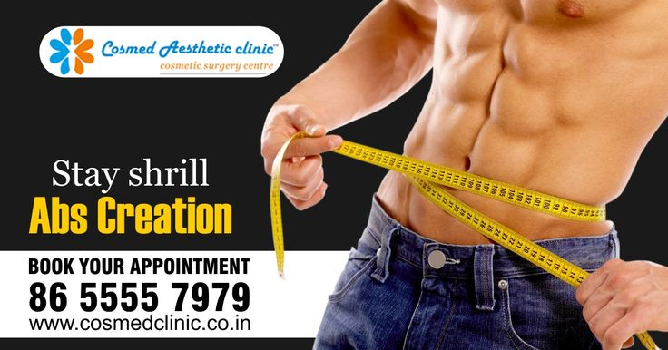 Your body always reflects your attitude. Make your #Abs more stunning and attractive with #AbsCreation treatment. #CosmedClinic will give you perfect body shape with awesome abs. Whatsapp your details on 865550332 Visit us on: www.cosmedclinic.co.in/contact-us Follow us on Twitter for more update: https://twitter.com/CosmedClinic1  #StayFit #StayHealthy #StunningSaturday #BeautyOfLife #FridayFeeling