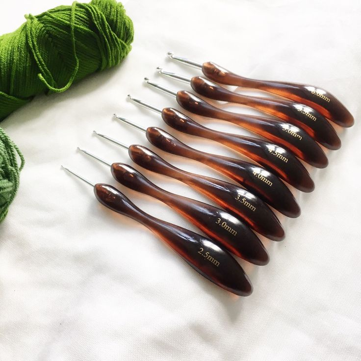 Ergonomic crochet hooks for those with painful carpal tunnel hands or just for comfort