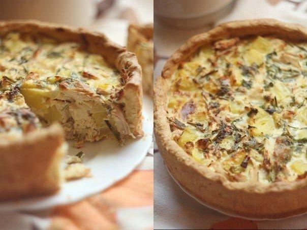 Как приготовить пирог с курицей и картофелем. - рецепт, ингридиенты и фотографии