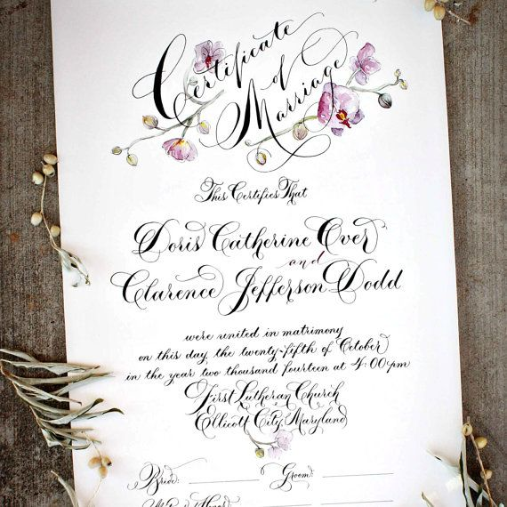 Best Wedding Certificate Images On   Marriage