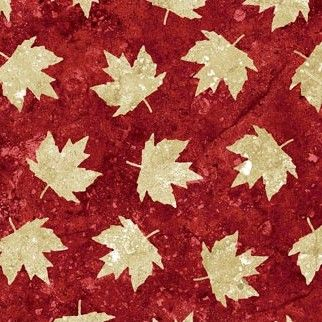 Stonehenge - Oh Canada - Maple Leaves on Red