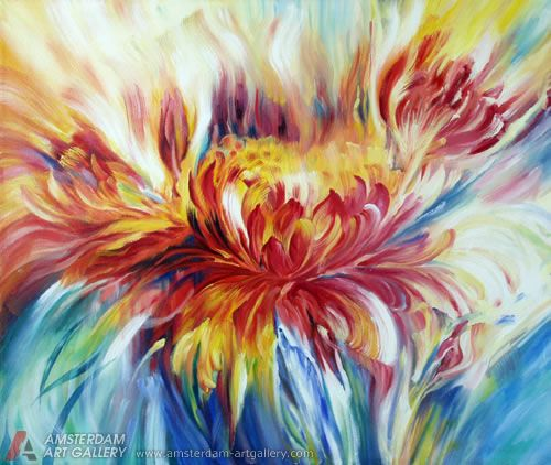 Abstract flower paintings images for Abstract art flowers paintings