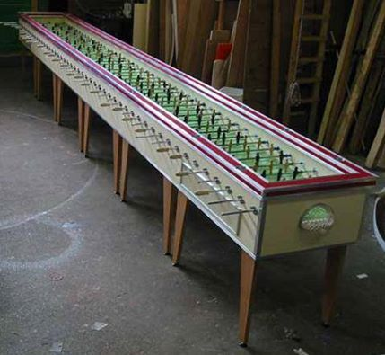 Here is a foosball for the gang