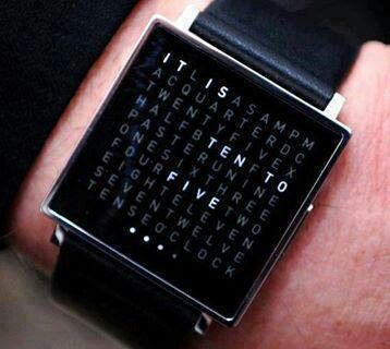 This watch is just mega cool. And I need it like crazy.Time written in words as a watch
