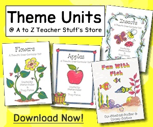 A to Z Teacher Stuff - Categories:  Lessons, Themes, Subjects, Articles, Printables/Worksheets