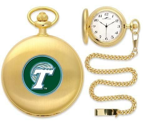 "Tulane Green Wave Pocket Watch by SunTime. $49.95. Japanese Quartz-Accurate Movement. Metal Cover. Unisex Adults. 12"" Chain. Officially Licensed Tulane Green Wave Pocket Watch. Tulane Green Wave Pocket Watch. The classically styled Pocket Watch is thoughtfully crafted and is a superior quality timepiece. The Green Wave pocket watch comes with a matching 12"" chain. The watch features a quartz-accurate Japanese movement to display time on our traditionally styled watch fac..."
