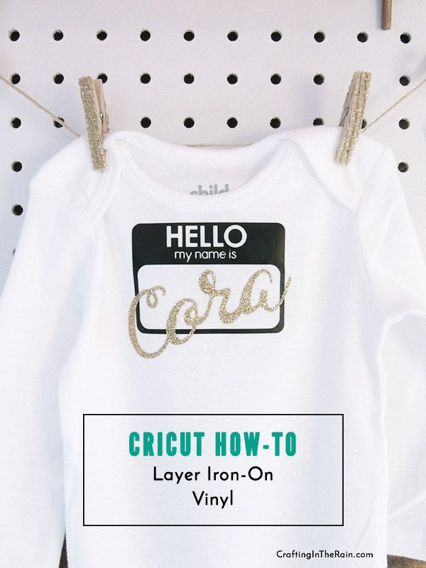 How to use iron on vinyl with Cricut to make name tag outfits #ad