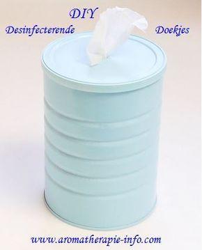 Deze DIY desinfecterende doekjes zijn super handig in gebruik als je even snel iets wilt schoonmaken.