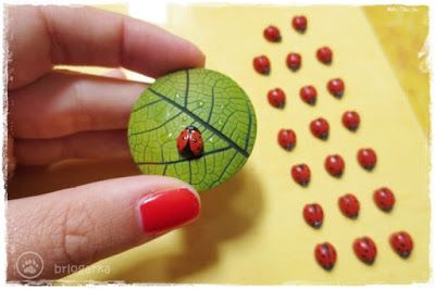 Polymer clay ladybugs ~ brlogarka