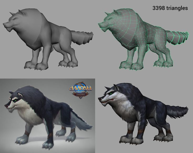 Creature for the project Allods Online. I did ONLY 3d models. Concept and textures presented here just for illustration input data and results.