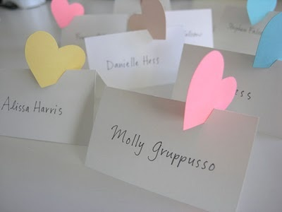 Weddings and More: Perfect DIY Escort or Place Cards for a February Wedding
