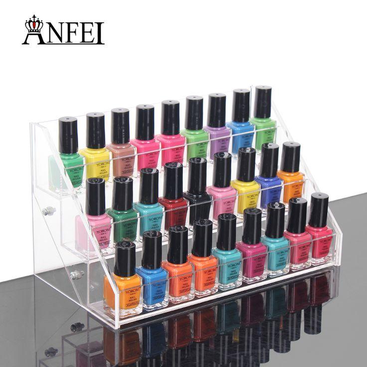 Cheap nail polish display rack, Buy Quality display rack directly from China nail rack Suppliers: ANFEI Bottles Nail Polish Display Rack, Acrylic Nail Polish Bottles Holder, Nail Salon Equipment, Table Nail Rack, Free Ship