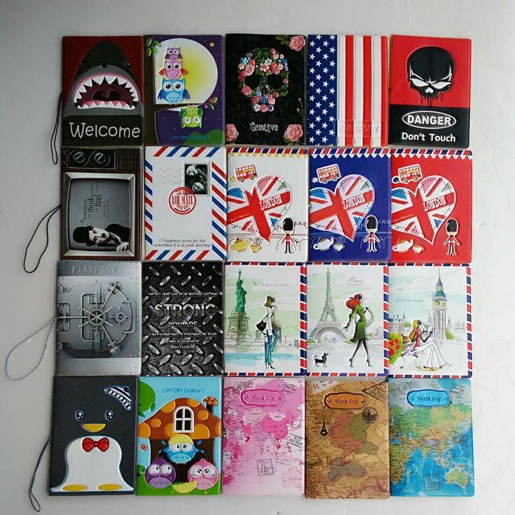 15 estilo de La Moda de Nueva Pasaporte PVC 14*9.6 cm Bolsa de Pasaporte de Viajes de Documentos de cuero Cubierta de la Caja de Tarjeta Libre gratis