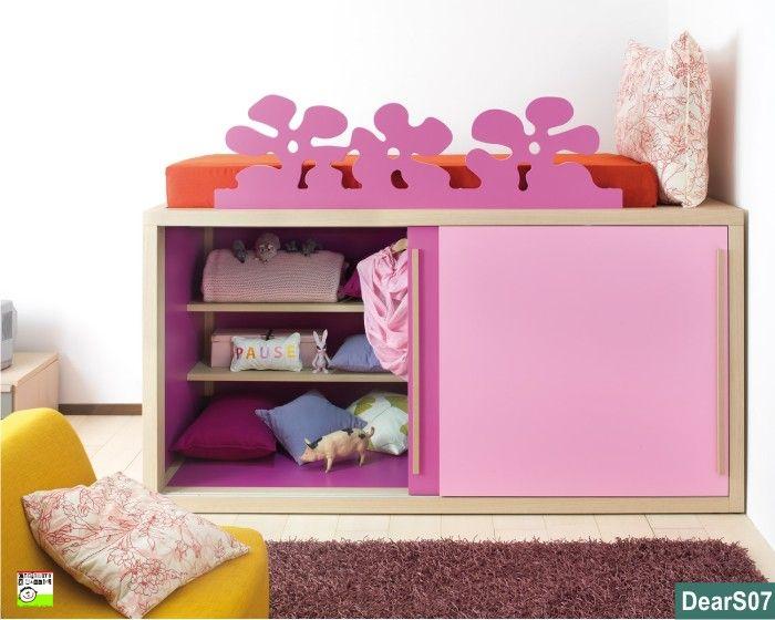 camerette  letto sopre aemadio sotto | Un armadio sotto al letto a castello può essere un sistema pratico ...