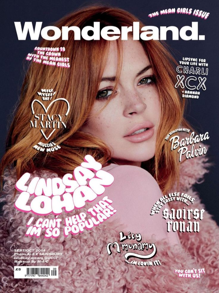 lindsay lohan wonderland 2014 cover Lindsay Lohan, Barbara Palvin & More Pose for Wonderlands Mean Girls Covers