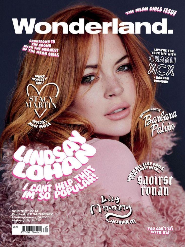 lindsay lohan wonderland 2014 cover Lindsay Lohan, Barbara Palvin & More Pose for Wonderlands Mean Girls Covers
