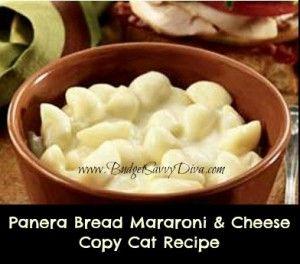 Panera Bread's Signature Macaroni & Cheese Copy Cat Recipe - probably bad if it tastes like Panera's mac and cheese....