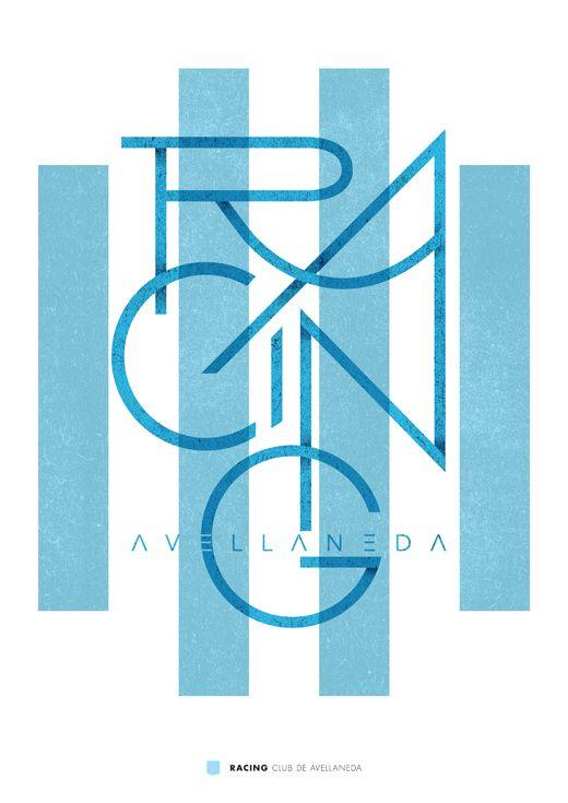 Fútbol Argentino by Jorge Lawerta, via Behance