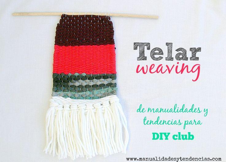 Cómo tejer con telar: #weaving www.manualidadesytendencias.com #manualidades #tapiz #telar #wallart #tissage #lana #wood #laine #hechoamano #hecho #mano #handmade #artesanía