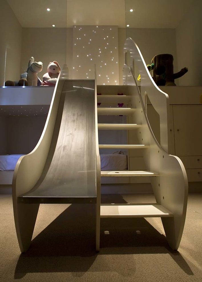 twin over full bunk bed with stairs slide idea from callender howorth kids bed pinterest. Black Bedroom Furniture Sets. Home Design Ideas