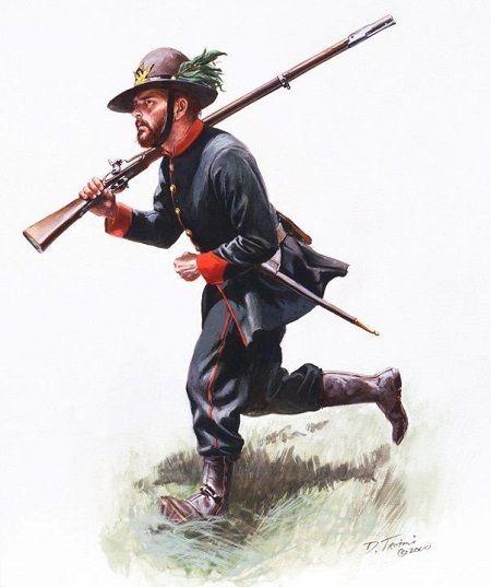 Truppe italiane nella Guerra Civile Americana : www.farwest.it
