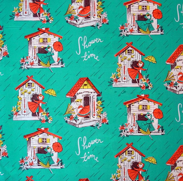 shower time vintage wrapping paper by blempgorf, via FlickrVintage Wraps, Wrapping Papers, Pattern Design Prints, Gift Wraps, Greeting Cards, Shower Time, Wraps Paper, Vintage Cards, Bridal Showers