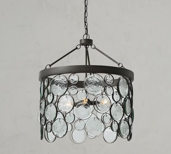 Emery Indoor Outdoor Recycled Glass Chandelier In 2019