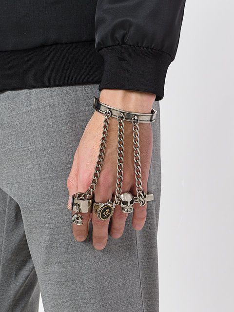 Alexander McQueen knuckle-duster bracelet