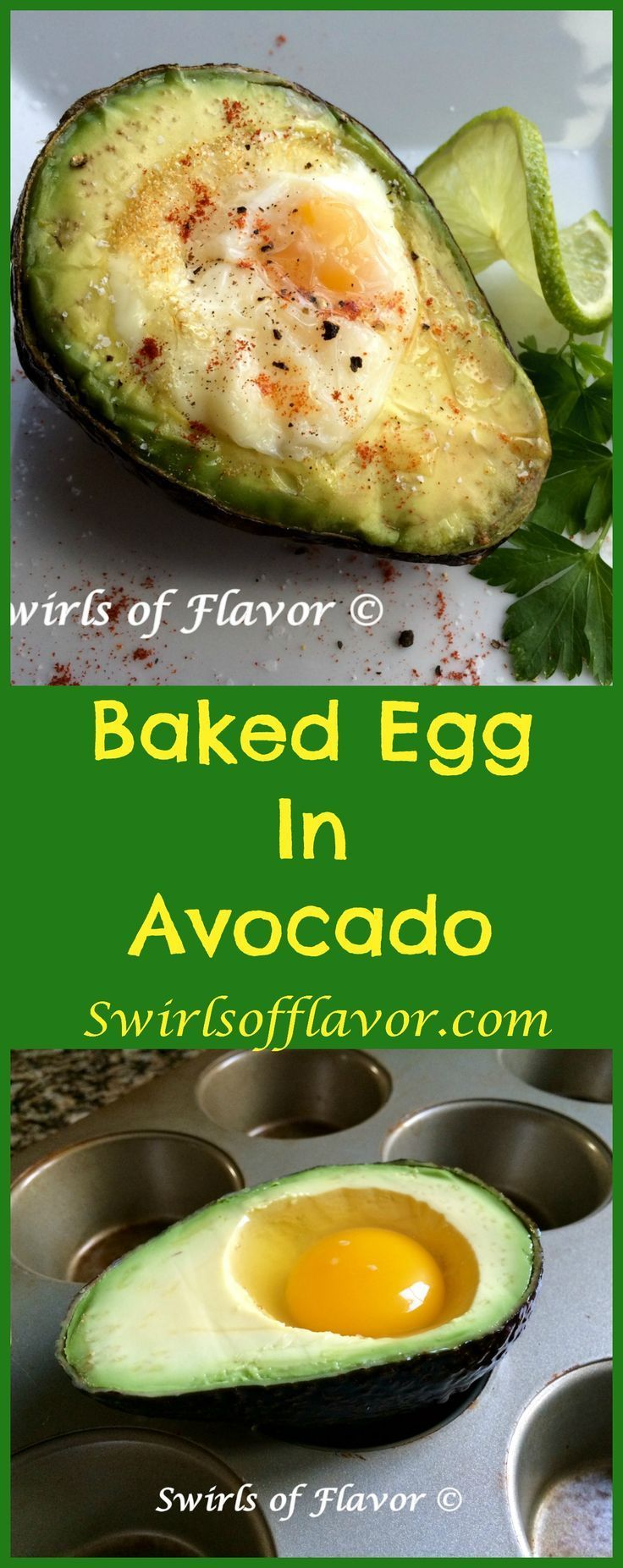 Baked Egg In Avocado combines the perfect protein with a healthy fat creating a powerhouse of nutrition for breakfast! #nationaleggday