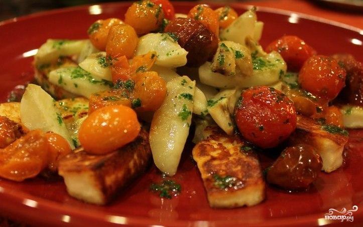 Теплый салат из топинамбура
