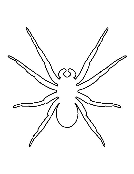 Spider pattern Use the printable outline for crafts