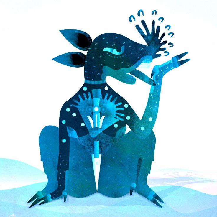Al momento de nacer nos elije el espíritu de un animal para guiarnos #ilustracion #illustration #art #arte #womanartist #ilustrador #nahual