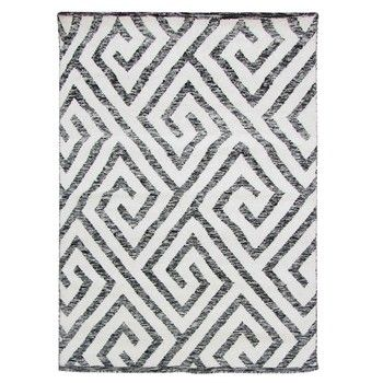 Ručně tkaný koberec Kilim Design 69 Black/White, 100x150 cm | Bonami