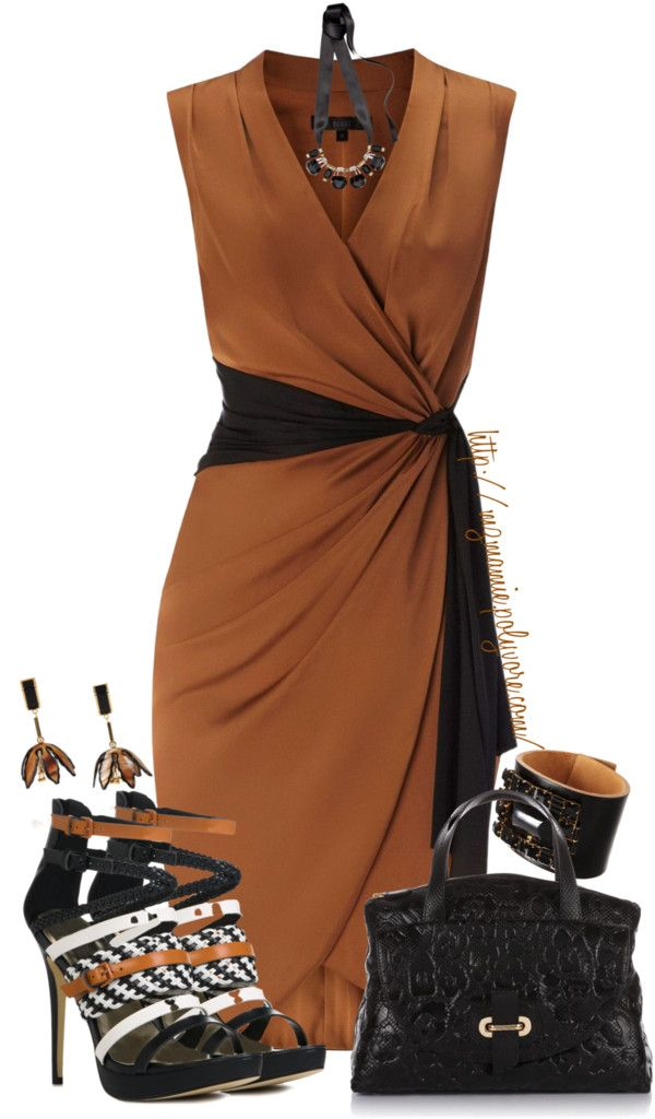 """Black and Brown Contest........"" by mzmamie on Polyvore-  DATE night- check out those SHOES!"