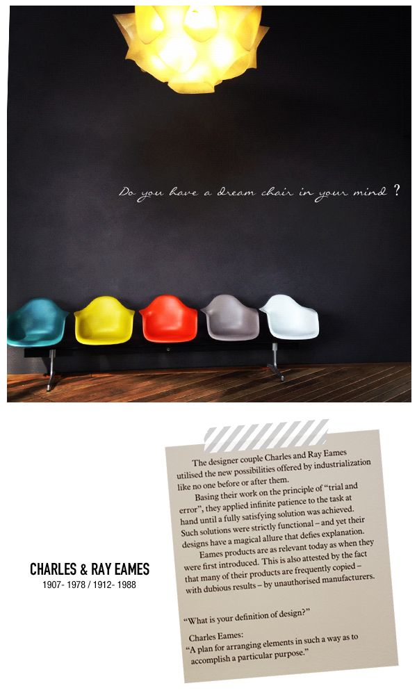 Vitra Museum 'Do you have a dream chair in your mind?' - Charles & Ray Eames