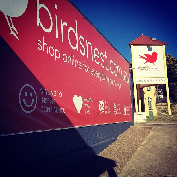 """@birdsnestonline's photo: """"We can't believe our little nest is growing big enough to have this massive sign!"""""""