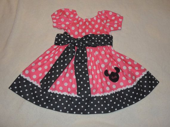 Peasant Minnie Mouse Dress, Peasant Dress, Minnie Mouse Dress, Minnie Mouse, Minnie Mouse Birthday Dress