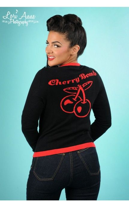 Pinup Girl Clothing-Cherry Bomb Vest | Pinup Girl Clothing