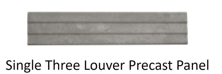 Precast Walling Alberton with Taller Waller single three louver precast panel